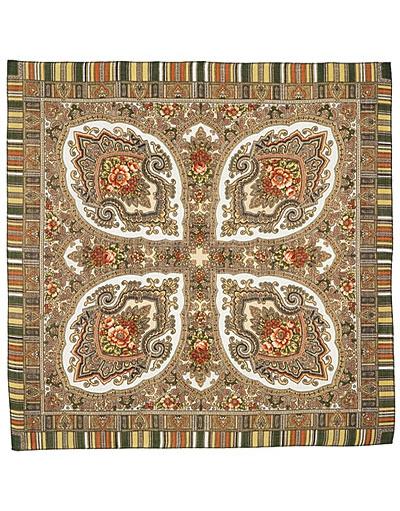 Wool shawl ''Scarlet flower''