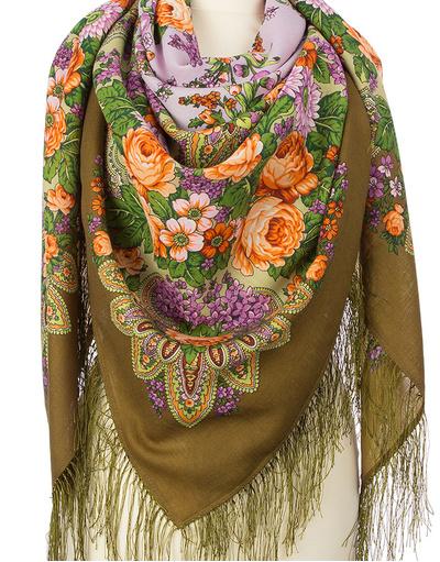 Wool shawl ''Lilac flowering''
