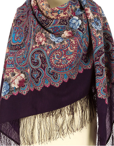Châle et foulard russe en laine ''Summer Triumph''