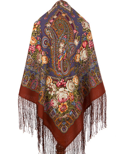 Wool shawl ''Garden of wonderful Dreams''