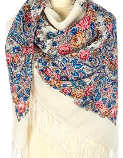 Châle et foulard russe en laine ''Lyre''