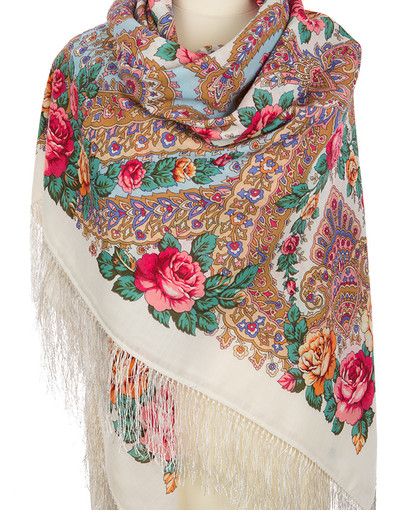 Châle et foulard russe en laine ''Magic Power of Love''