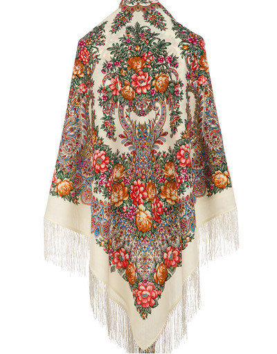 Châle et foulard russe en laine ''Magic Power of Love''Châle et foulard russe en laine ''Ladoga''