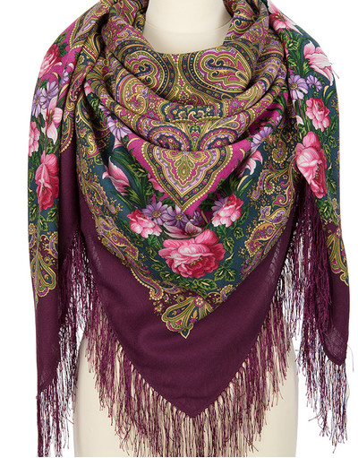 Wool shawl ''Flower Kaleidoscope''