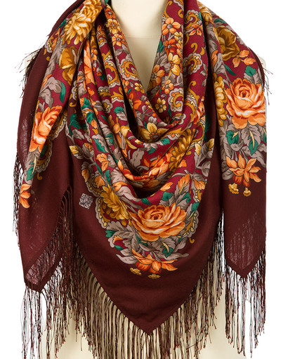 Wool shawl ''The Tired Sun''