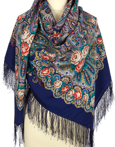 Wool shawl ''On the wings of tenderness''