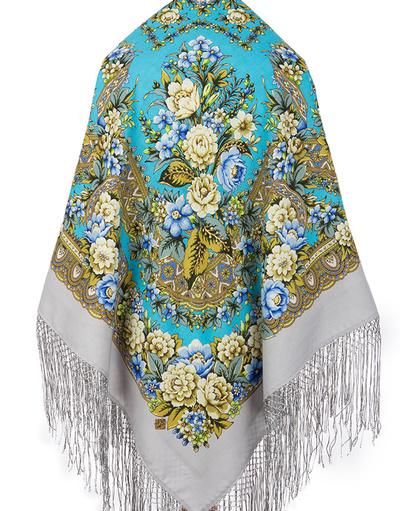 Wool shawl ''Darlyng'' back view