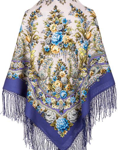 Wool shawl ''Fire Festival''