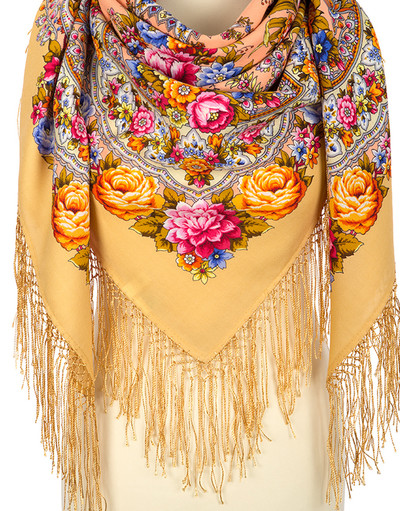 Wool shawl ''On the wings of tenderness''Wool shawl ''Fire Festival''