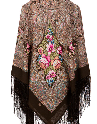Pavlovo Posad wool shawl Russia ''Enchantress Winter''