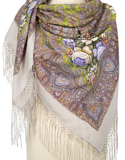 Wool shawl ''Enchantress Winter''