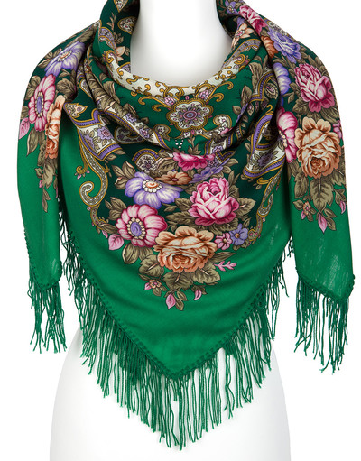 Wool shawl ''In the Land of Wonders''