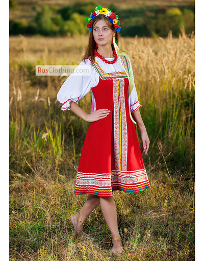 Russian sarafan dress
