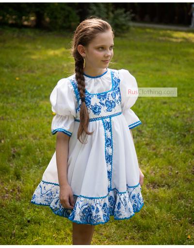 Russian dance costume u0026#39;u0026#39;Gzhelkau0026#39;u0026#39; | RusClothing.com