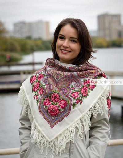 Wool Shawl Kamarinskaya Rusclothing Com