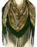 Wool shawl ''Wildflower Honey''