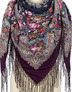 Wool shawl ''Daws on the Don river''