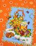 {[en]:Waffle cotton fabric ''Saint Sunday'' orange}