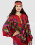 floral poncho boho style