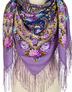 Châle russe en laine ''Fire Festival''Pavlovo Posad wool shawl Russia ''Fire Festival''Pavlovo Posad wool shawl Russia ''Fire Festival''