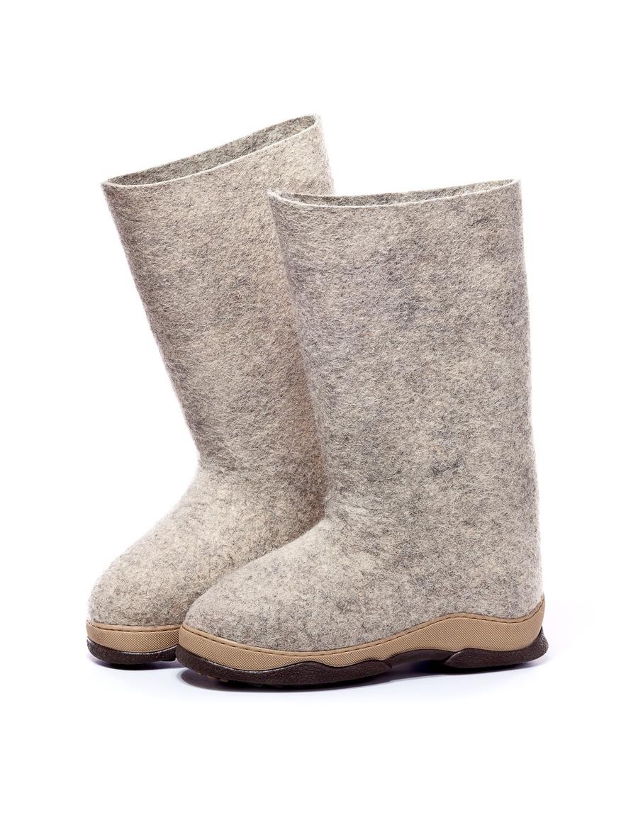Valenki Russian Traditional Handmade Felt Home Boots 100% Wool Women's Shoes Best Souvenir Boots